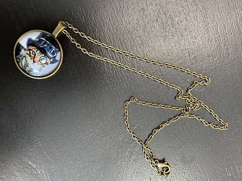 Steam Punk Cat Necklace