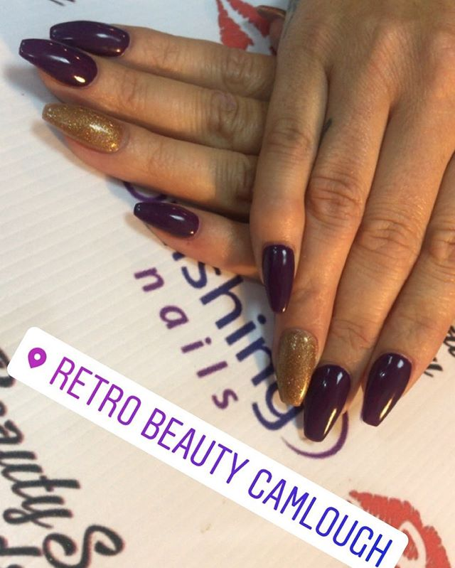 Acrylic nails _retro_beauty_noleen _retro_beauty_salon #nailtech #autumnnails #2017 #beauty #loveyou