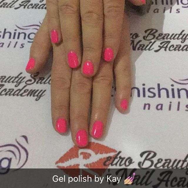Gel polish by kay _retro_beauty_salon #perfectmatch #gelpolish #pinknails #nailsofinstagram #nailson