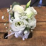 rustic white rose wrist corsarge