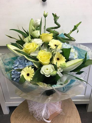 Lemon and Blue Luxury Bouquet