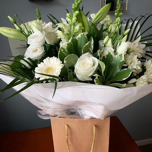 White and Green Aqua Bouquet