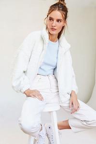 White teddy bear coat
