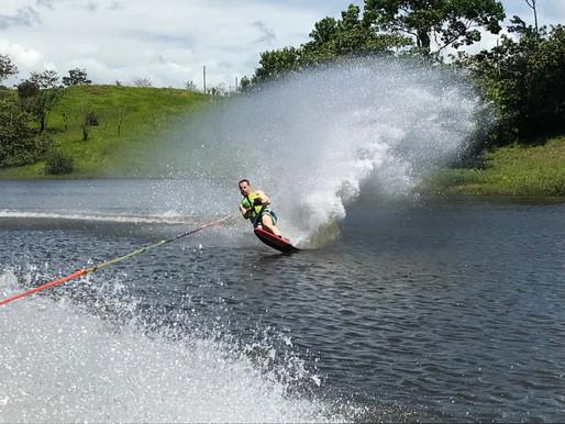 Waterskiing in Costa Rica!
