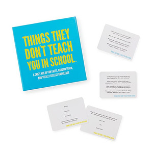 Things they don't teach you in school card game