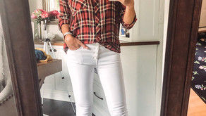 It's after Labor Day and guess what?  We're wearing white pants!