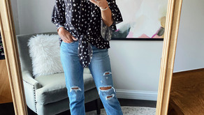 4 ways to style the cutest polka dot top