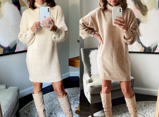 6 ways to style a sweater dress