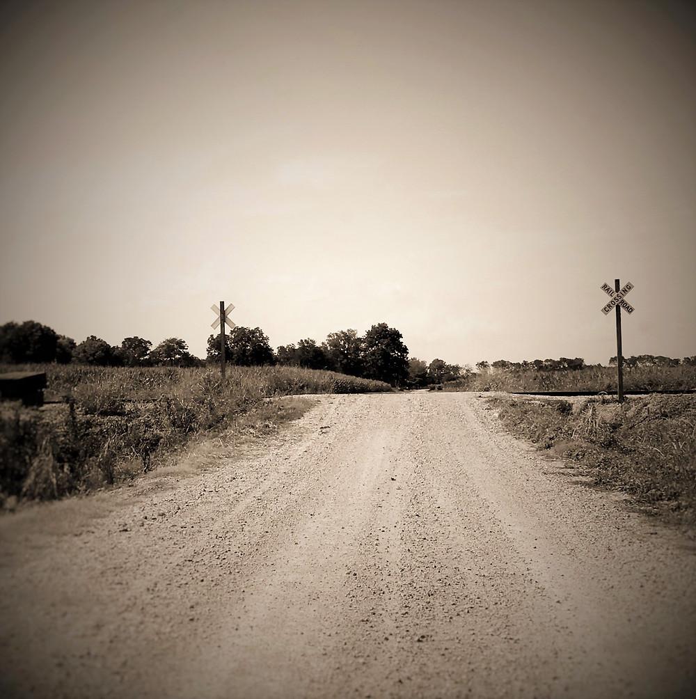 Farming road in Madison Parish, Louisiana