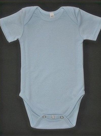 BABY ONESIE BABY BLUE SHORT SLEEVE