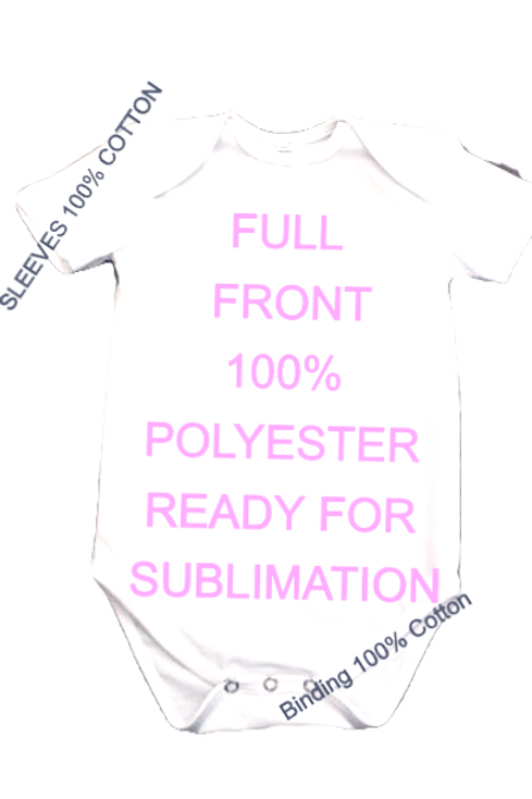 100% Polyester Sublimation Baby Onesie