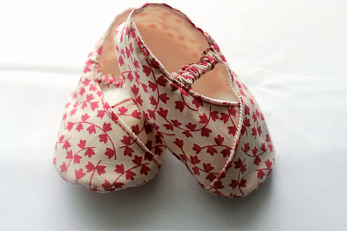 BABY SOFT SHOES RED 100% Cotton
