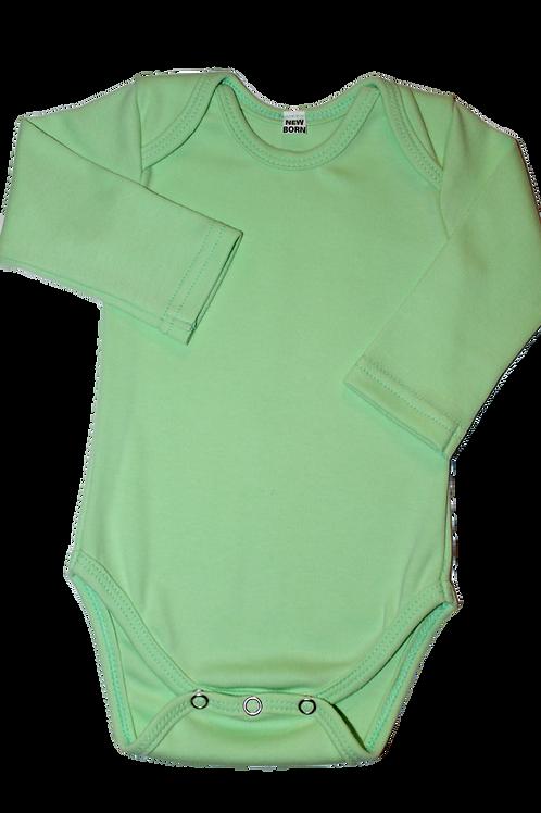 100% Cotton Baby Onesie Mint Long Sleeve
