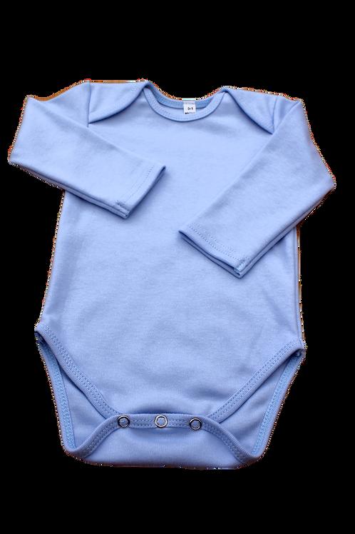 BABY ONESIE BABY BLUE LONG SLEEVE