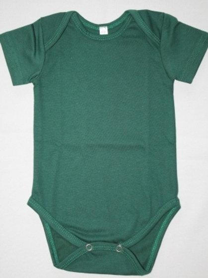 BABY ONESIE BOTTLE GREEN SHORT SLEEVE