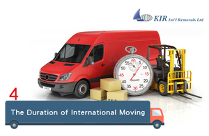 Relocation: What is the duration of international moving?