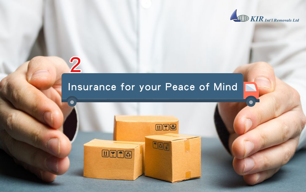 Does the international moving company offer insurance and what type?