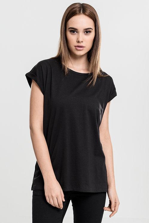 T-Shirt Donna Manica Corta con Risvolto