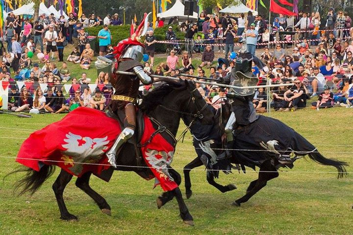 Jousting is a major attraction for young and old.