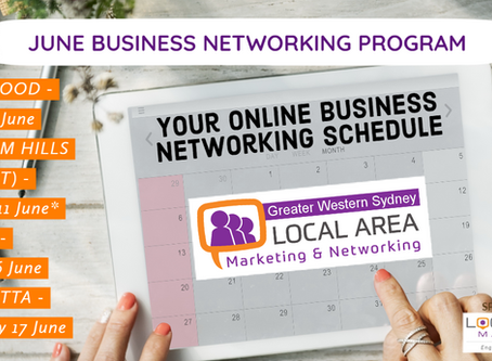 Greater Western Sydney June Networking Events Schedule