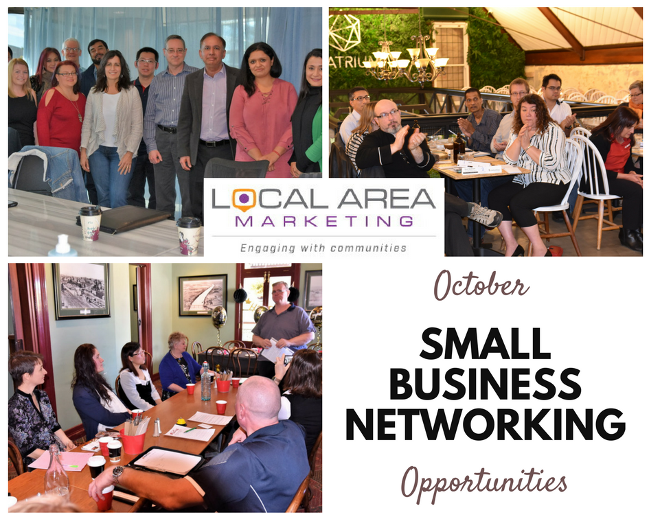 SMall business networking photo montage by Local Area Marketing