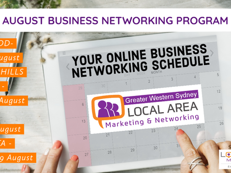 August Business Networking Events Schedule & Knowledge Program