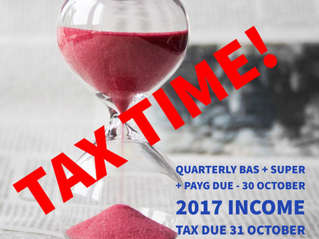 It's Tax Time next Monday!!