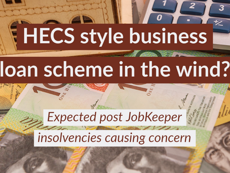 Small businesses may get HECS style loan scheme as JobKeeper winds down