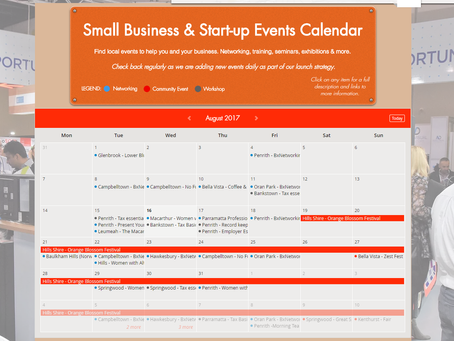 "Greater Western Sydney small business networking & events calendar ""Live"""