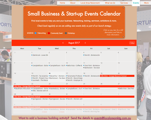 Local Area Marketing Small Business & Start-up Events Calendar