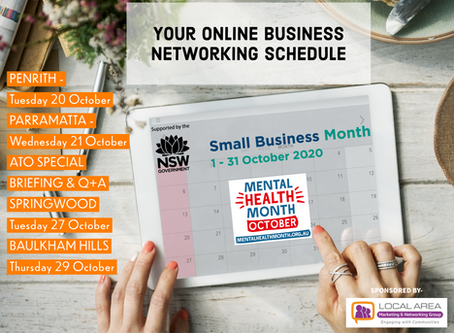 Lock-in these NSW Small Business Month Networking Diary Dates