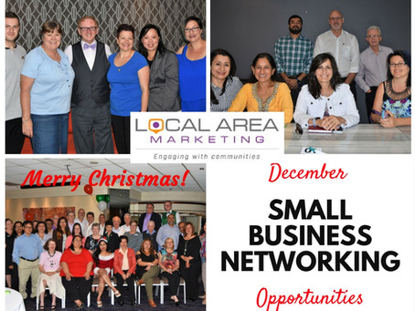 Networking Opportunities for small business owners - December