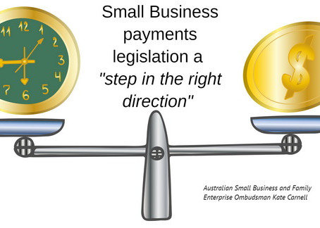 "Small Business payments legislation a ""step in the right direction"""