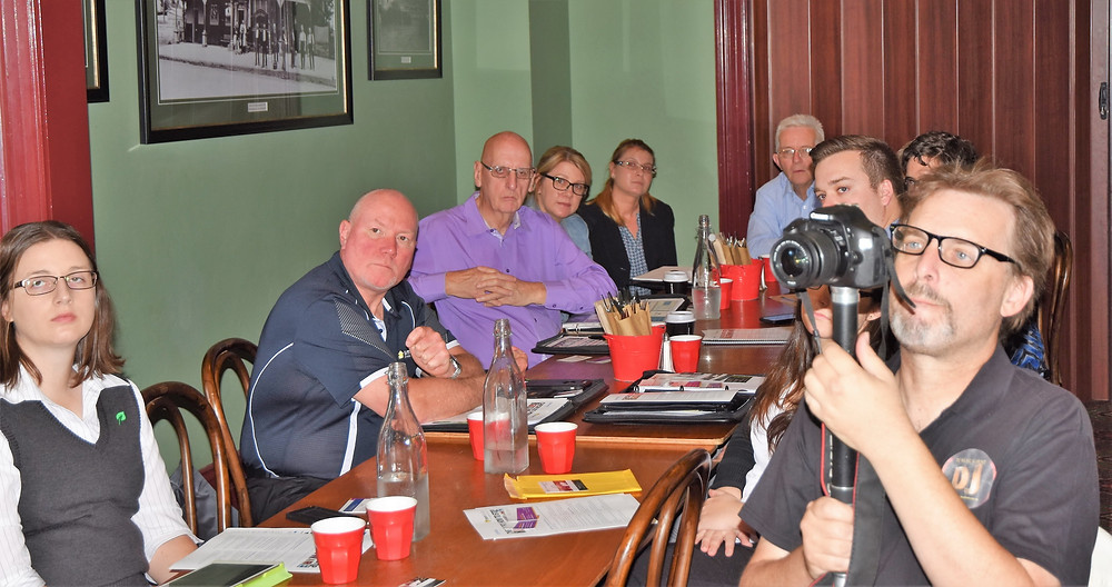 Members of the Penrith Small Business Owners Network during their cyber security briefing.