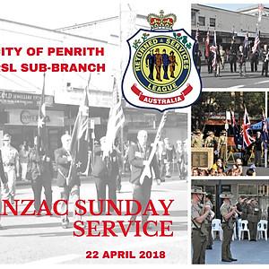 ANZAC Day Sunday Service Penrith