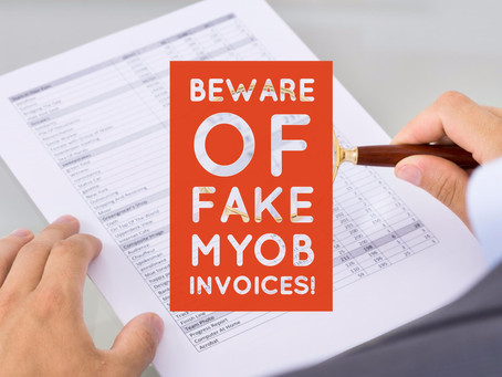 Small business warning on MYOB fake invoice software scam