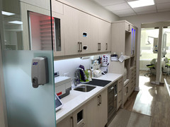 Sterilization area: No shortcuts here. We keep our equipment in top condition and log all cycles for auditing and quality control.