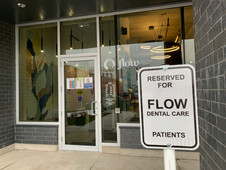 Reserved parking spot for patients.