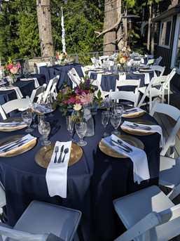 Full place setting at a client home
