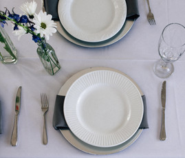 Simple place setting for a classic look