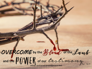 Overcome today by the blood of the Lamb and the power of your testimony!