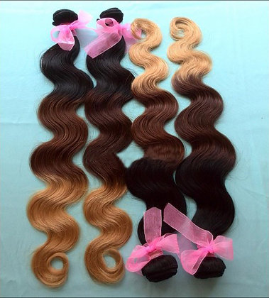 Three Tone Ombre Medium color:
