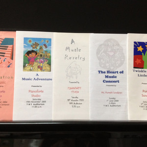 Yearly collection of students' concert brochures
