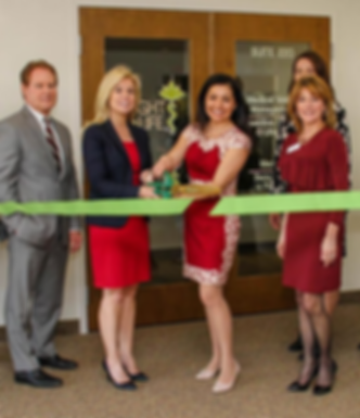 Weight & Life MD curring ribbon during opening ceremony in Hamilton, NJ by Dr. Nadia Pietrzykowska