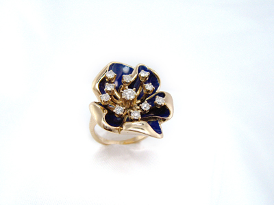Dia Flower Ring