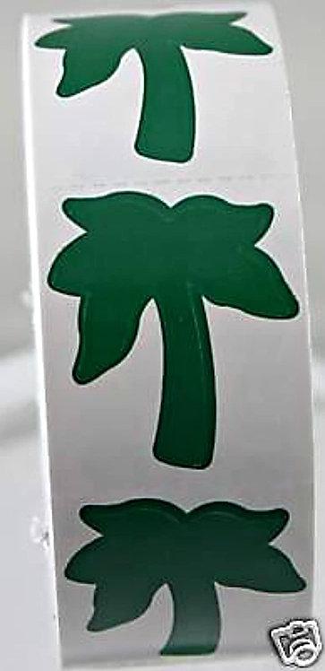 Body Stickers Palm Tree 1000ct roll