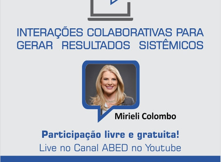 Mirieli Colombo realiza a próxima live da Nortus no canal ABED