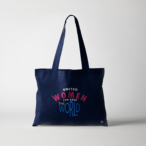 United Women Can Save The World Tote Bags