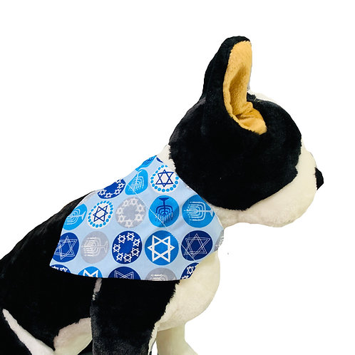 Hanukkah Over-the-Collar Dog Bandana