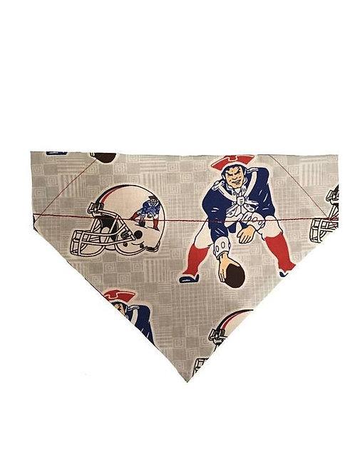 New England Patriots Football Over-the-Collar Dog Bandana, Reversible